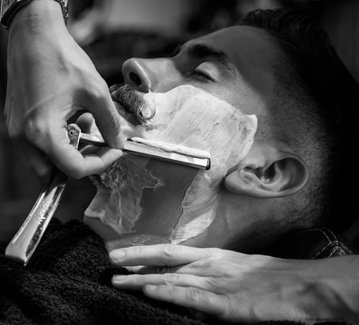Old fashioned shave - a ritual for real men