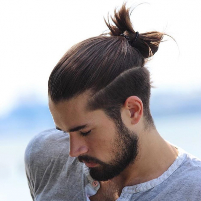 Men's top knot hairstyle — a combination of style and comfort